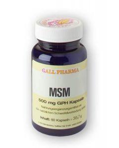 GPH MSM 500mg Kapseln, 180 Stück