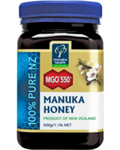 MANUKA HONIG                  MANUKA HEALTH               MGO                       550+, 500g