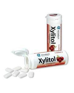 Miradent Xylitol Kaugummi - Cranberry, 30 Stück