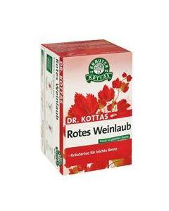 Dr. Kottas Rotes Weinlaubtee 20 Beutel, 20 Stück