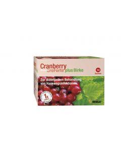 Biogelat Cranberry Uro Forte plus Birke, 14 Stück