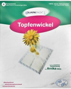 Quarkpack Topfenwickel + Arnika, 4 Stück